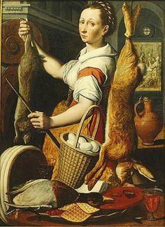 Kitchen Maid, attributed to Pieter Pietersz Antwerp circa 1540/41 – 1603 Amsterdam