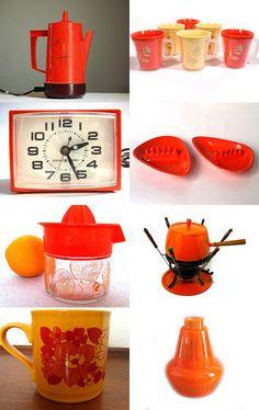 Retro Orange --Pinned by xurple.etsy.com with TreasuryPin.com
