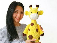 Crochet Giraffe Pattern, Pattern Baby, Crochet Animal Patterns, Crochet Stitches Patterns, Stuffed Animal Patterns, Crochet Patterns Amigurumi, Crochet Animals, Crochet Hooks, Knitting Patterns