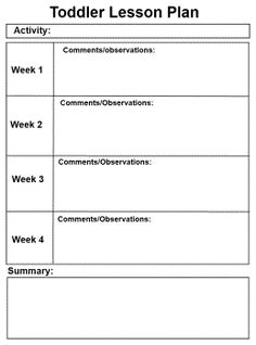 creative curriculum lesson plan template - Google Search | lesson ...