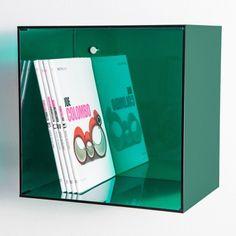 Acylic wall cube shelves. #acrylic #plexiglass #cube #wall - Cubo in plexiglass colorato - #color #colorful