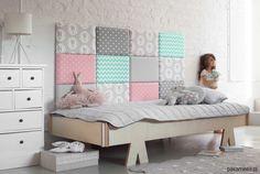 meble - łóżka-Zagłówek modułowy made for bed, patchwork