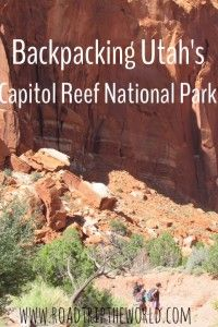 One of my favorite Utah National Parks- Capitol Reef is secluded and absolutely gorgeous.  A perfect backpacking destination!