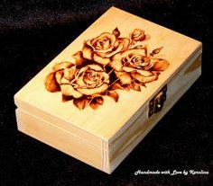 #Pyrography #PyrographyOnWood Wooden Box | Handmade with love by Karolina