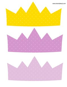 Crowns from Ballerina Purple Printable Photo Booth Prop Set Diy Photo Booth Props, Photo Booths, Printable Designs, Printables, Diva Party, Photobooth Props Printable, 1st Birthday Princess, Fairies Photos, Tinkerbell Party
