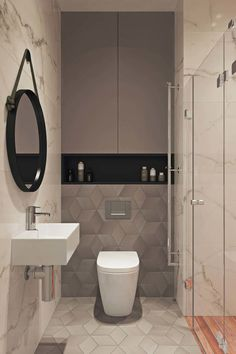 Splendid Small Toilet Design Ideas For Small Space In Your Home 38 Minimalist Bathroom Design, Bathroom Design Luxury, Modern Bathroom Design, Small Toilet Design, Small Toilet Room, Modern Toilet Design, Modern Design, Small Bathroom Inspiration, Bad Inspiration