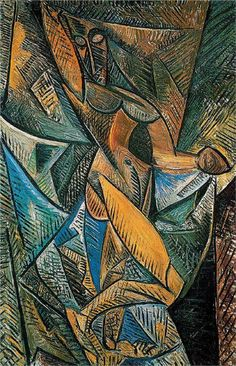 Dance of the Veils, 1907, Pablo Picasso. Technique: oil on canvas.    Dimensions: 150 x 100 cm  Gallery: Hermitage, St. Petersburg, Russia.