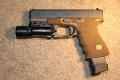 I'm going to shoot in a competition soon and they wont let you shoot with grip tape. This is my duty Glock So to the point. Glock Stippling, Salient Arms, Agency Arms, Glock 22, Hanuman Wallpaper, Guns And Ammo, Firearms, Hand Guns, Weapons