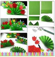 Çiçek - Easy Crafts for All Preschool Crafts, Easter Crafts, Kids Crafts, Diy And Crafts, Arts And Crafts, Spring Art, Spring Crafts, Paper Flower Backdrop, Paper Flowers