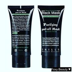 This Purifying Peel-Off Mask will do wonders for your skin. Buy it now from Foxy Beauty.  #beauty #love #smile #black #blackmask #blackgirlkillingit #makeup #modeuse  #makeuptutorial #fashionaddict #look #like4follow #like4like
