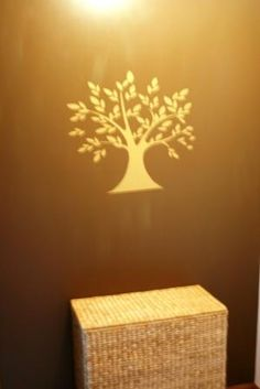 Tree of life decal in a customer's hallway (sweetpeachesbedding.com)
