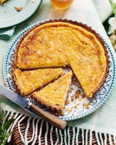 Felicity Cloake puts a twist on a custard tart with her savoury version, made with cheddar, nutmeg and a wholemeal pastry case. Tart Recipes, Brunch Recipes, Baking Recipes, Dessert Recipes, Quiche Recipes, Cheese Recipes, Vegan Recipes, Dinner Recipes, Desserts