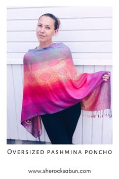 I love a good poncho - who doesn't! Feel great, look great and boost your confidence with these gorgeous and flattering accessories! Chunky Scarves, Feel Unique, How To Have Twins, Elephant Print, Things That Bounce, Looks Great, Confidence, Rocks, Fashion Outfits