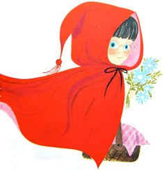 Look at her glasses! Vintage Kids' Books My Kid Loves: Little Red Riding Hood