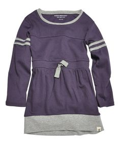 Another great find on #zulily! Blackberry Varsity Organic Dress - Infant by Burt's Bees Baby #zulilyfinds