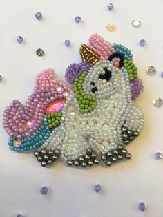 #Pony #Pin #Brooch #embroidery #beads #handmade #arte #pearls #mexicanart