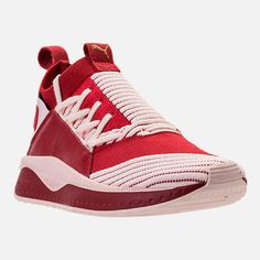 Puma Women's Tsugi Jun Casual Sneakers from Finish Line - Red 11 Casual Sneakers, Casual Shoes, High Top Sneakers, Shoes Sneakers, Women's Shoes, Puma Fierce, Knit Pants, Finish Line, Athletic