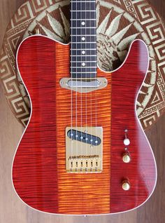 Warmoth Guitar Gallery Tele Flamed maple top