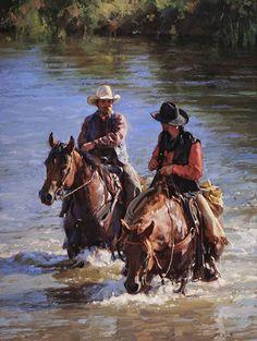 """Deep Water and Conversation"" by Jason Rich (Cowboy Artist)"