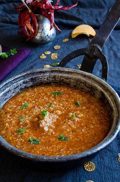 Lentil and bulgur soup with driend mint and chili | http://giverecipe.com | #soup #lentil #bulgur #driedmint #winter