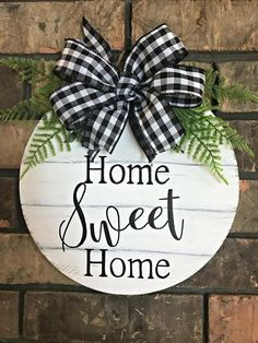 Farmhouse Home Sweet Home Wall Hanger, Small Wooden Door Clothe . - Farmhouse Home Sweet Home Wall Hanger, Small Wooden Door Hanger, Dorm Room Decor. Wooden Door Hangers, Wooden Doors, Wooden Signs, Sweet Home, Wooden Chargers, Porch Wall, Front Door Decor, Wall Hanger, Wall Signs