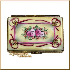 "Hearts ""With Love"" Limoges Box (Rochard)"