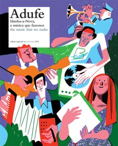 Cover illustration for Adufe's Special issue celebrating and promoting the rich and lively musical scene of Idanha-a-Nova, a region in Portugal. Design is by Silvadesigners!
