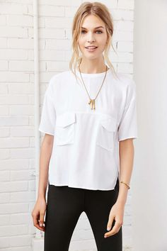 Silence + Noise Modern Pocket Tee - Urban Outfitters