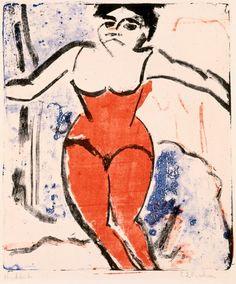 Ernst Ludwig Kirchner - Beifallheischende Artistin, 1909. Stedelijk Museum Amsterdam