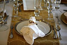 fine china place setting. The Culinary Artist at home.