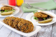 Indian-Spiced Veggie Burgers: No boring veggie patties here! Make a batch of these Indian-spiced vegan and gluten-free curry quinoa burgers for dinner and save a patty for the next day's lunch.