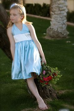 Satin Flower Girl Dress Any Color Size 2 to 6 by mapletree2000, $60.00