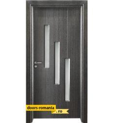 Uși de interior în România la un preț super | Doors Romania Black Exterior Doors, Tall Cabinet Storage, Locker Storage, Lockers, Furniture, Home Decor, Interiors, Decoration Home, Room Decor
