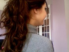 curly hair #tied