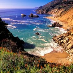 Most Romantic Fall Getaways: Big Sur, CA I could live here! Big Sur, The Places Youll Go, Places To See, State Parks, Romantic Destinations, Romantic Getaways, California Dreamin', Travel And Leisure, Coastal