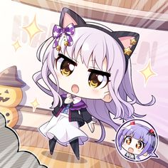 Yukina-san your costume is super cool! Anime Wolf Girl, Anime Art Girl, Manga Girl, Anime Girls, Kawaii Chibi, Cute Chibi, Kawaii Anime Girl, Lolis Anime, Anime Chibi