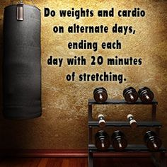 Gym workout - Alternate cardio with weights