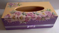 Krabička na kapesníčky * dřevěná  z decoupage.