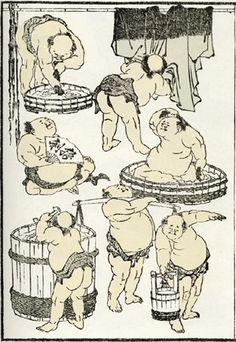 1834 : exemple de «manga» de Hokusai