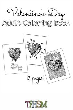 363 Best Adult Colouring Hearts Love Zentangles Images In