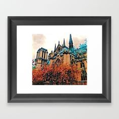 Notre Dame, Paris Framed Art Print by Brent Jones Art. Worldwide shipping available at Society6.com. Just one of millions of high quality products available.