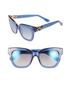 2bc958a369a Jimmy Choo - Blue  maggi  51mm Crystal Embellished Sunglasses - Lyst