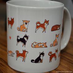 Shiba-Inu Mug by olliewhen