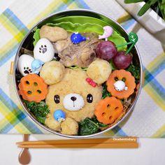 Karenwee's Bento Diary: Bento2015#Oct08~Caring Bear Bento