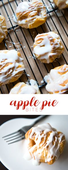 Apple Pie Bites Recipe - thus easy dessert is made with crescent rolls and apple pie filling. So good!!