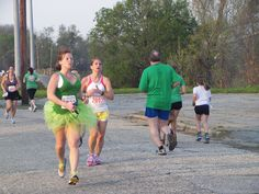 Green tutu ... we like it.