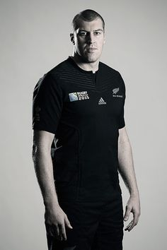 Brodie Retallick poses during a New Zealand All Blacks Rugby World Cup Squad Portrait Session on August 31, 2015 in Wellington, New Zealand.