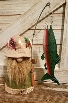 Sokki or Faxi Gnome Tomte Nisse Tonttu Fishing Gnome, Fishing Rod, Christmas Gnome, Christmas Ornaments, Christmas Sewing, Crafts To Make, Fun Crafts, Gnome Tutorial, Scandinavian Gnomes