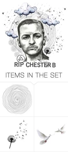 """""""RIP Chester Bennington"""" by misshonee ❤ liked on Polyvore featuring art"""