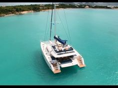 Catamarans Fountaine Pajot  This is so nice and I love the fly bridge and extra space up top. My favorite Roger Brichacek